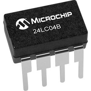 I2C 24LC04 EEPROM 4kBit DIP8