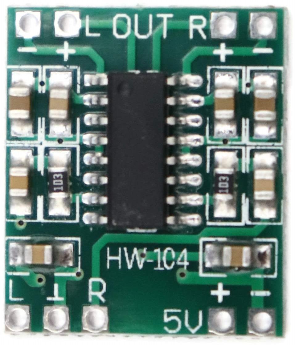 Audio-Verstärker 2x3W 5.0V Class-D Platine PAM8403 HW-104