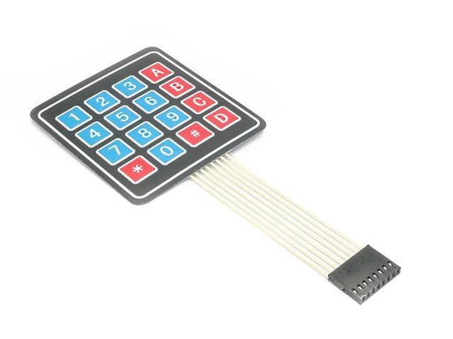 Raspberry Pi Tastatur 4x4 Tasten Folie mit Klebeschicht