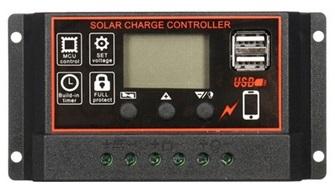 Laderegler Solar bis 24/48V, Akku 12V / 24V  30A (360/720W)