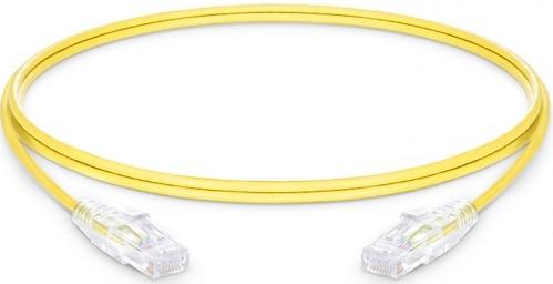 Netzwerk Slim-Patchkabel CAT6, U/UTP, 1.2m, LAN, RJ45, Gelb