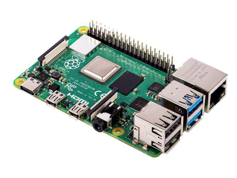 Raspberry Pi 4B A72  2GByte  4x1.5GHz LAN, WLAN, Bluetooth