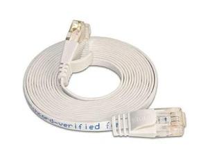 Netzwerk flach Patchkabel CAT6, UTP, 10m, LAN, RJ45, weiss