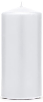 Kerzen Zylinder 6x12cm weiss