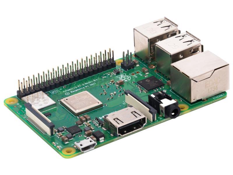 Raspberry Pi 3B+ A53 1GByte  4x1.4GHz LAN, WLAN, Bluetooth