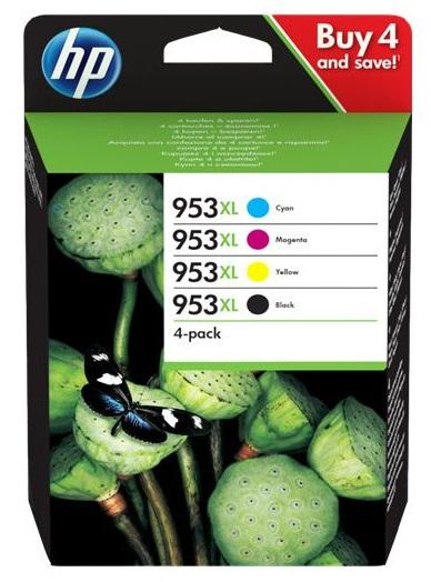 HP Tinte 953XL CMYBK  (3HZ52AE) 2000 Seiten Rainbow