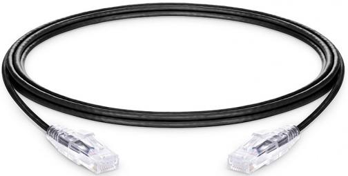 Netzwerk Slim-Patchkabel CAT6, U/UTP, 3.0m, LAN, RJ45, Schwarz