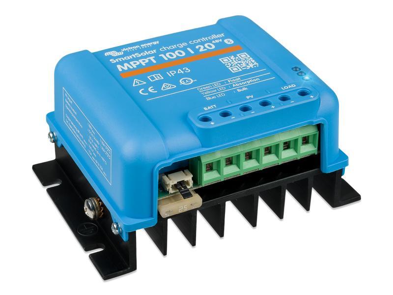 Laderegler MPPT Solar bis 100V, Akku 12V, 24V, 48V  20A (bei 24V 480W)