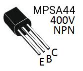 MPSA44 NPN Transistor 0.3A 400V 0.6W Hochspannung Nixie