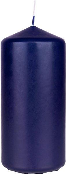 Kerzen Zylinder 5x10cm dunkelblau