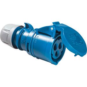 CEE Kupplung 32-3, 230V, 32A, blau