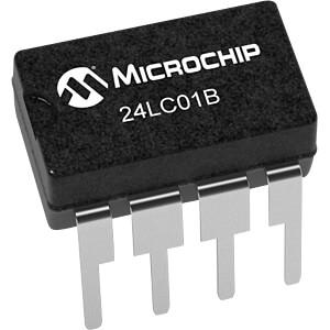 I2C 24LC01 EEPROM 1kBit DIP8