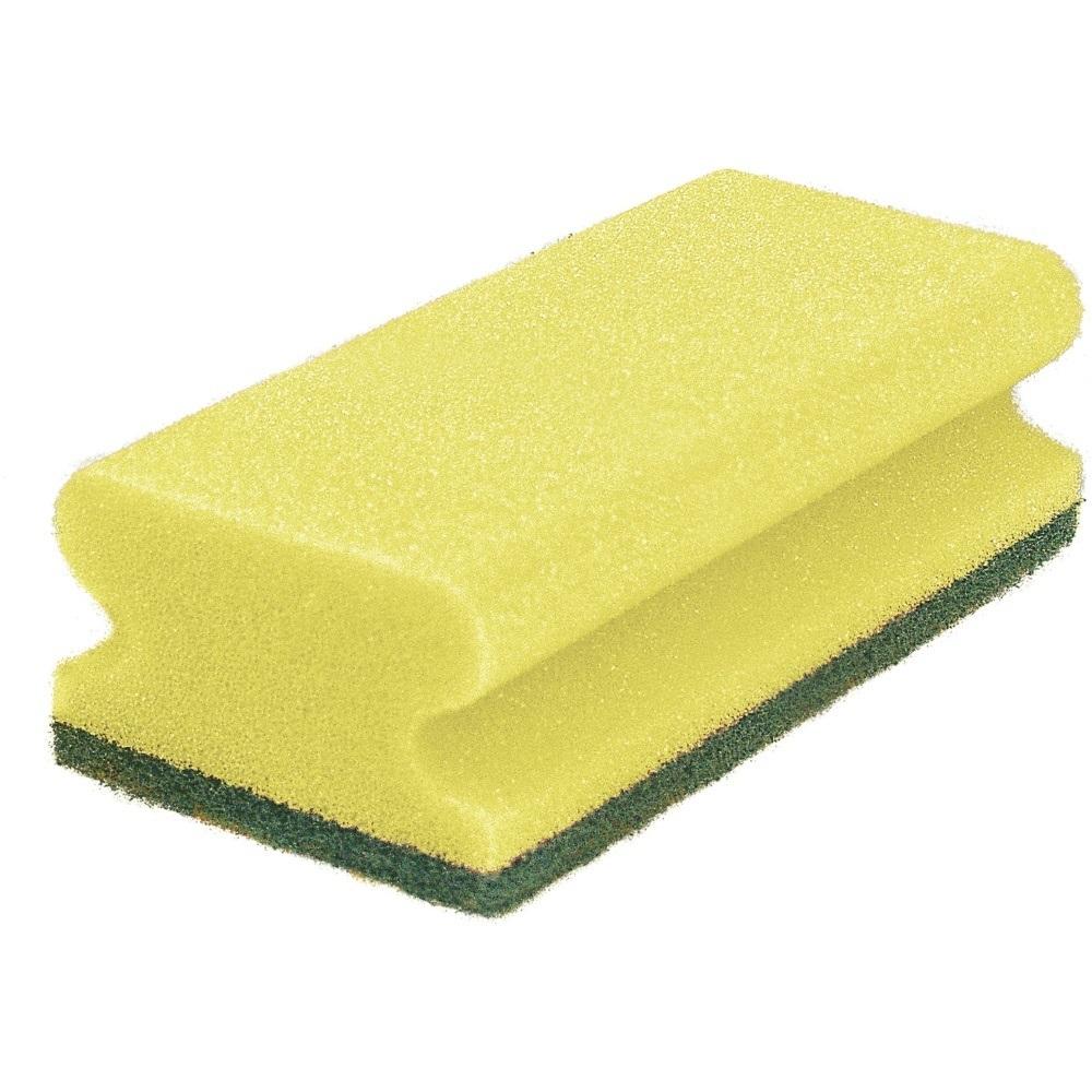Schwamm Reinigung classic 9.5cm gelb/grün