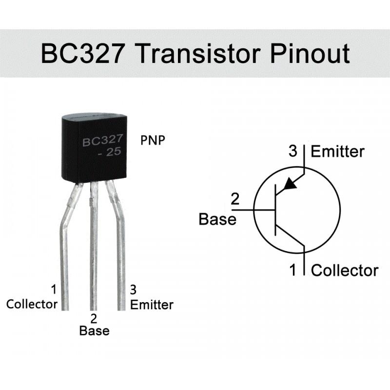 BC327 PNP Transistor 0.8A 45V