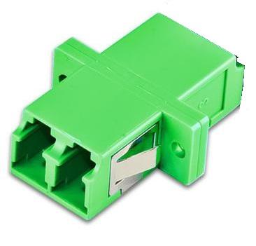 Glasfaser Kupplung 2xLC/APC grün singlemode, simplex LWL
