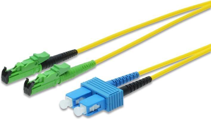 Glasfaser Kabel E2000/APC SC/PC 2.0m singlemode, duplex LWL