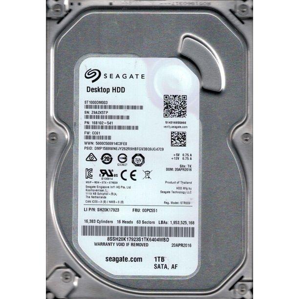 """Festplatte 1.0TB 3.5"""" SATA Seagate 1SB102-541 Occasion"""