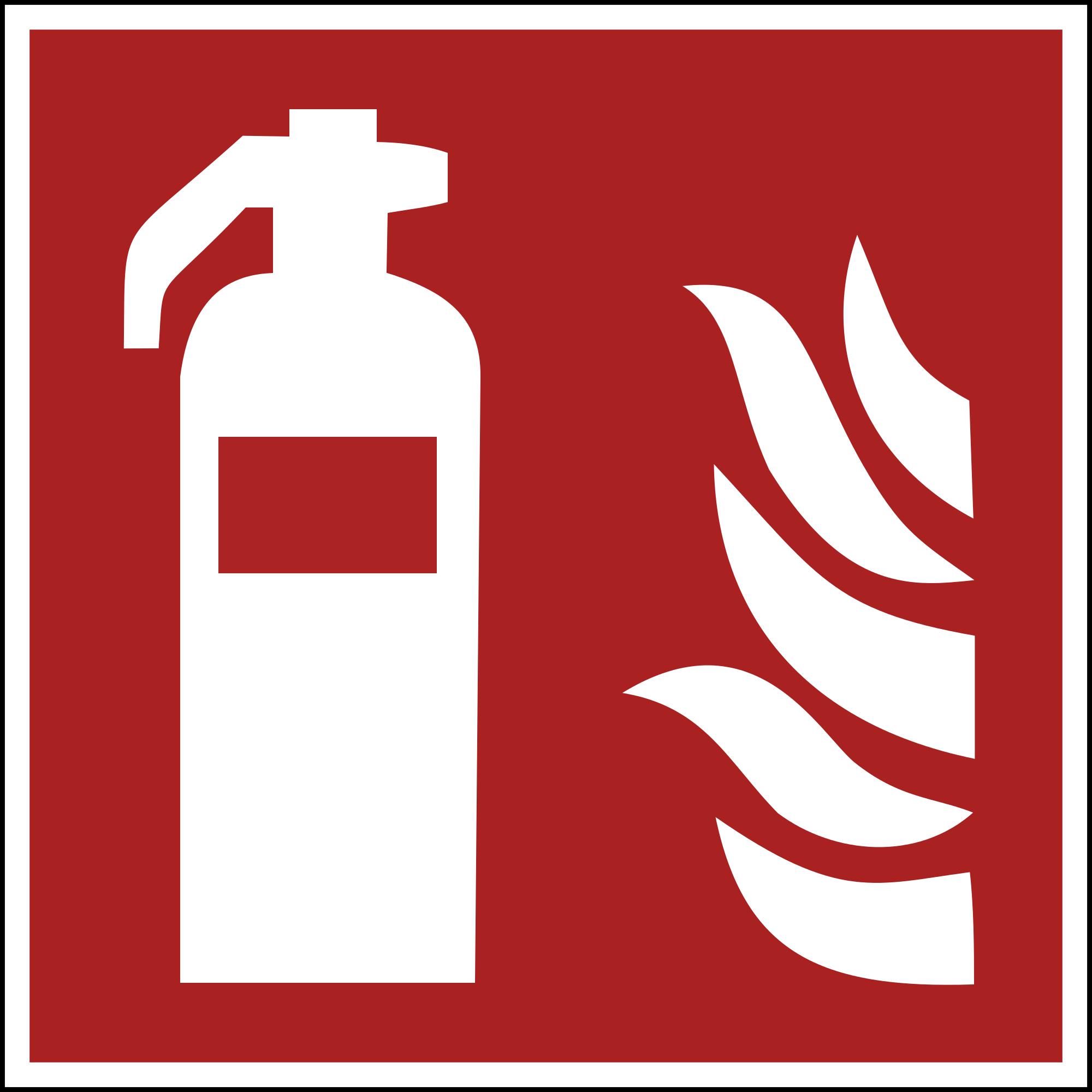 Feuerlöscher Plakette ISO 7010 15x15cm
