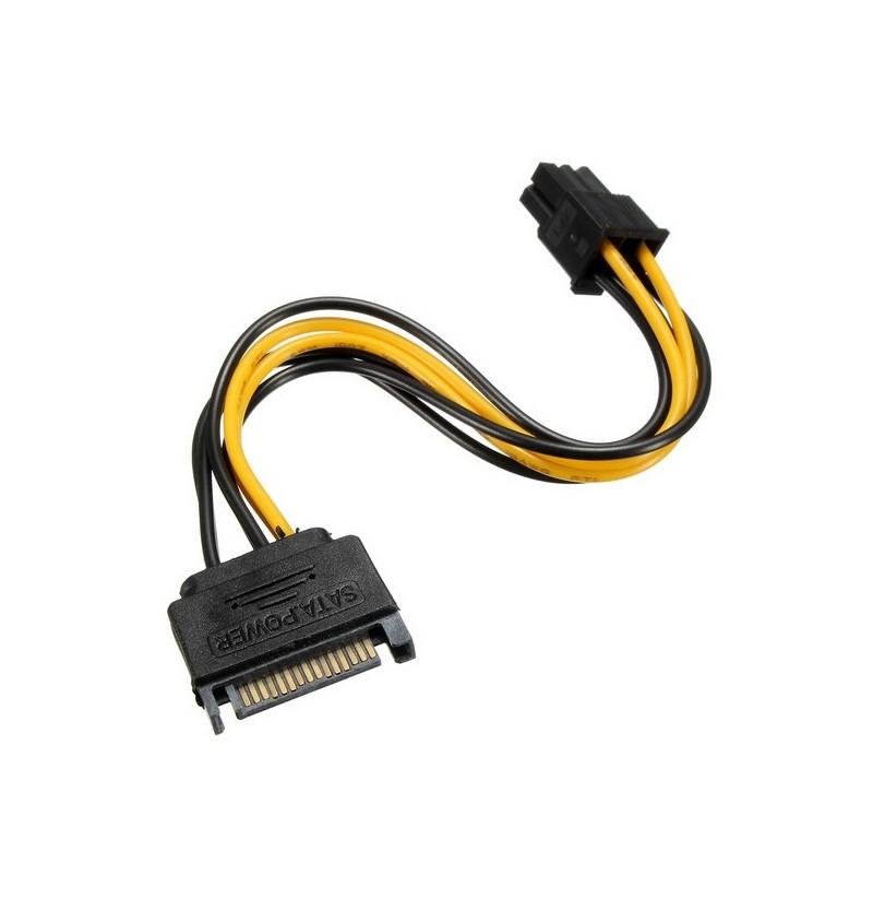 SATA Kabel Power 15-Pin auf 6-Pin PCI Express