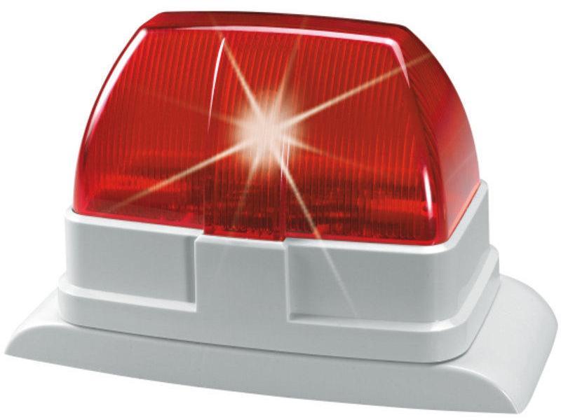 Blitzlicht Alarm Kabelgebunden, 12V, rot
