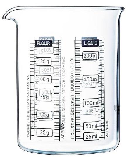 Messbecher Pyrex 0.5l Messkrug Glas