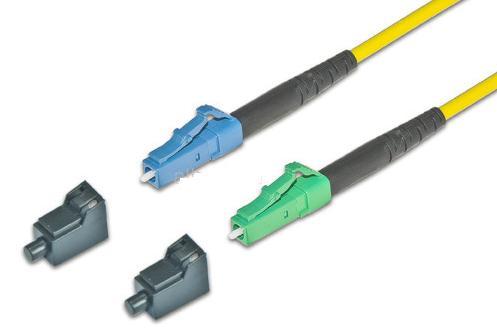 Glasfaser Kabel LC/APC LC/PC 5.0m FTTH singlemode, simplex LWL