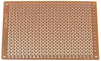Lochrasterplatine 5x7cm