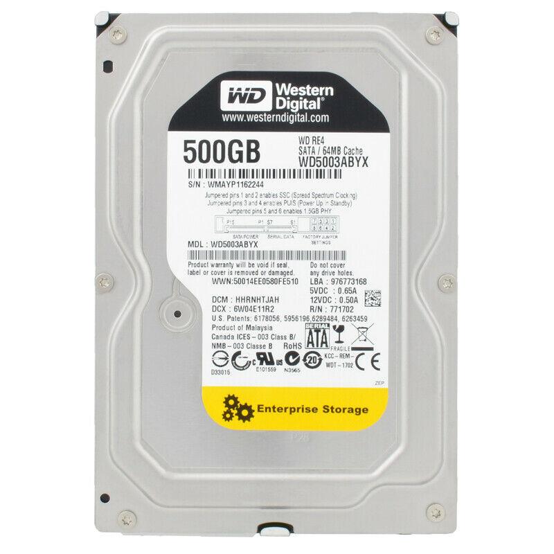 "Festplatte 500GB 3.5"" SATA WD Yellow WD5003ABYX Occasion"