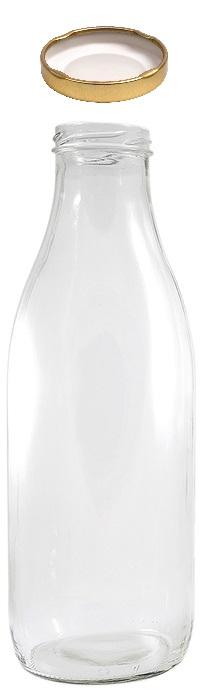 Flasche 1.0l Glas mit Deckel TO48mm  71x245mm