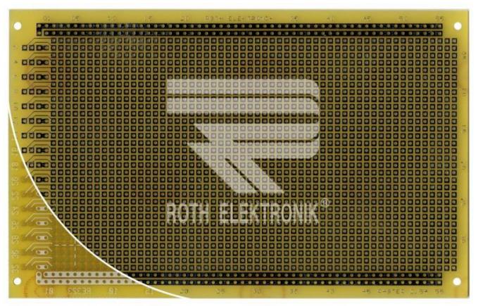 Lochrasterplatine 100x1600mm Epoxyd FR4