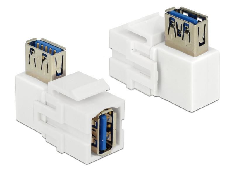 USB3.0 Keystone Modul Jack weiss