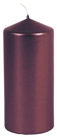 Kerzen Zylinder 9x20cm dunkelrot