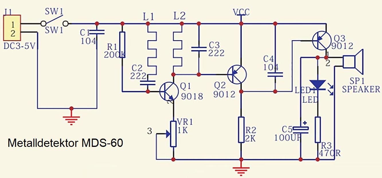 Metalldetektor Bausatz MDS-60