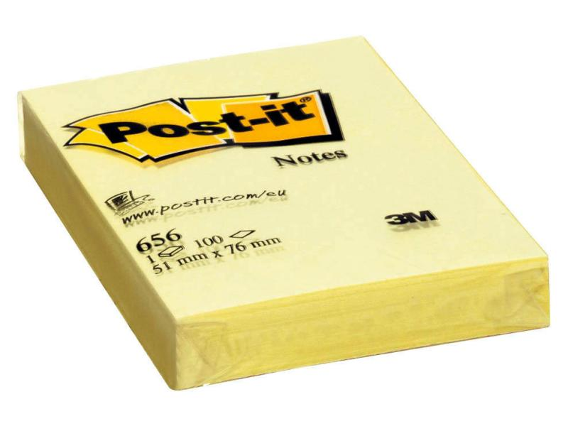 Post-it gelb 51x76mm 100Blatt