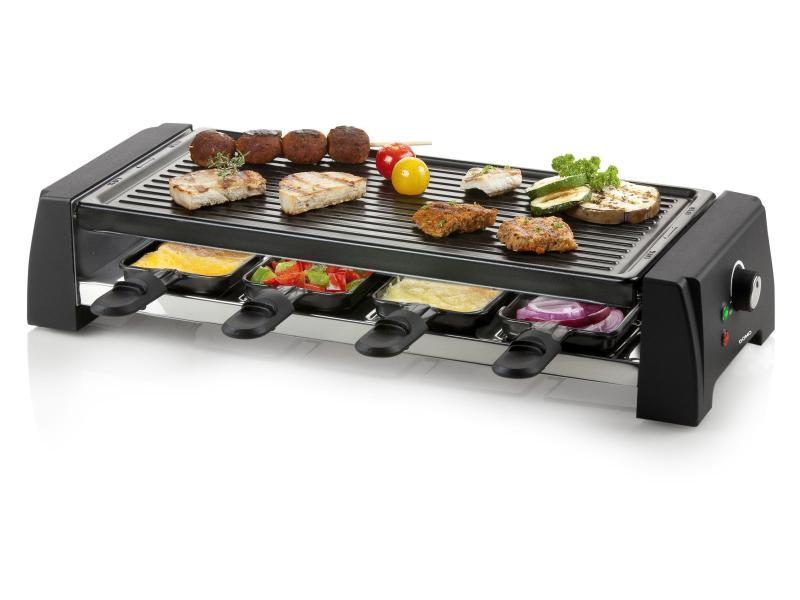 Raclette-Grill 8 Personen Grill mit Steingut und Metall