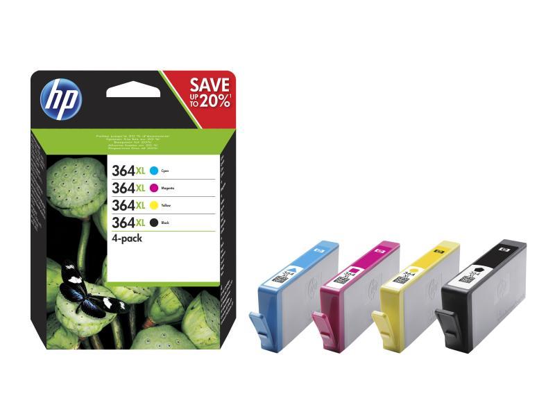 HP Tinte 364XL CMYBK (N9J74AE) 550 Seiten Rainbow