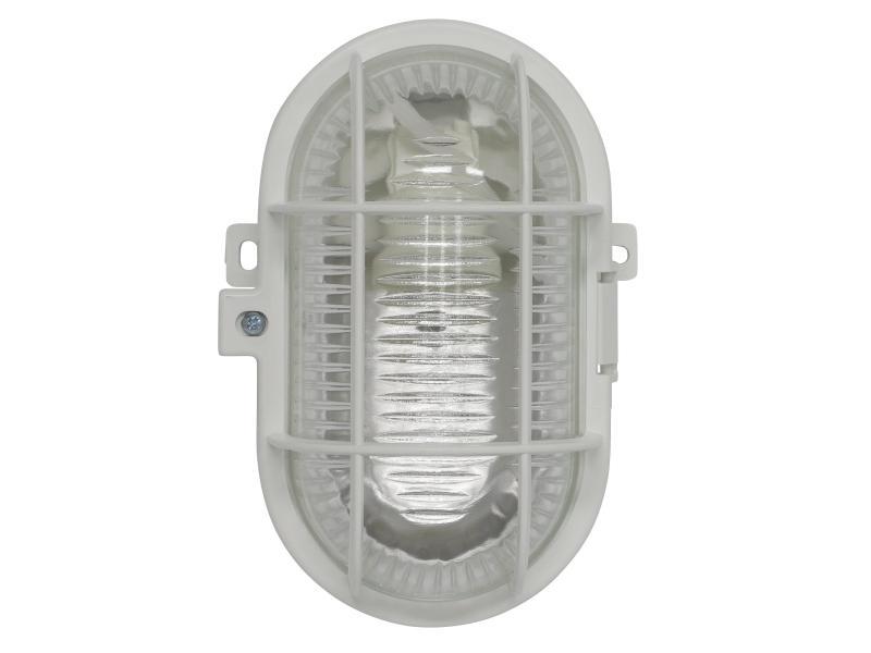 Leuchte E27 weiss Glas  Keller Lampe