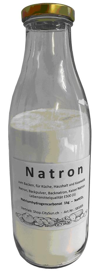 Natron 1.0kg zum Backen, für Küche, Haushalt und Kosmetik