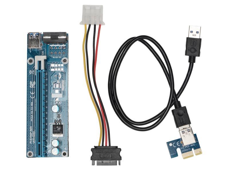 Mining PCIex1 auf PCIex16 Verlängerung 0.8m 4-Pin-Power