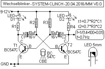 Wechselblinker LED Schema