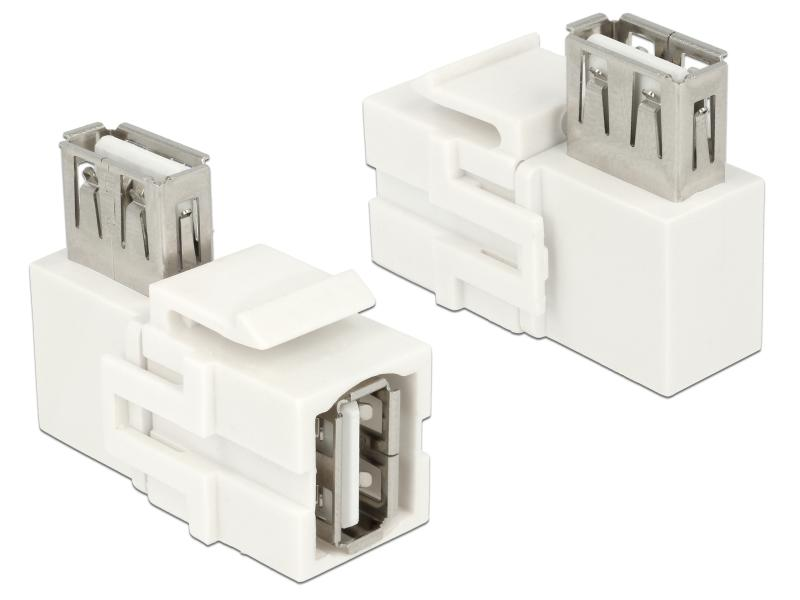 USB2.0 Keystone Modul Jack weiss