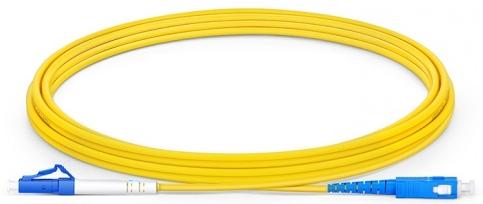 Glasfaser Kabel LC/PC SC/PC 1.0m singlemode, simplex LWL