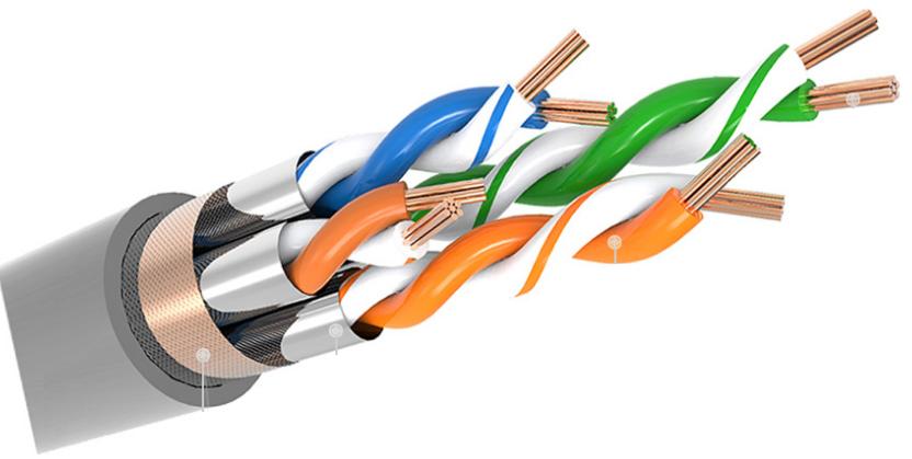 Netzwerk Patchkabel CAT6a SFTP 3.0m grau PVC RJ45-RJ45