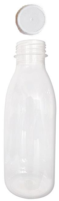 Flasche 500ml PET mit Deckel TO38mm  54x150mm