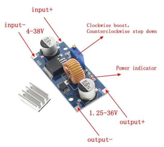Netzteil Raspberry PI und PICO In:6-38V Out:3.3/5.0V 4.5A Bulk