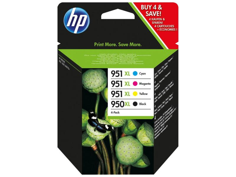 HP Tinte 950XL + 951XL Black / Color  C/M/Y/BK (C2P43AE) 2300 Seiten Rainbow