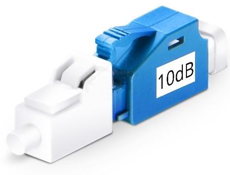 Glasfaser Test Adapter 10dB LC/PC LC/PC singlemode, simplex LWL
