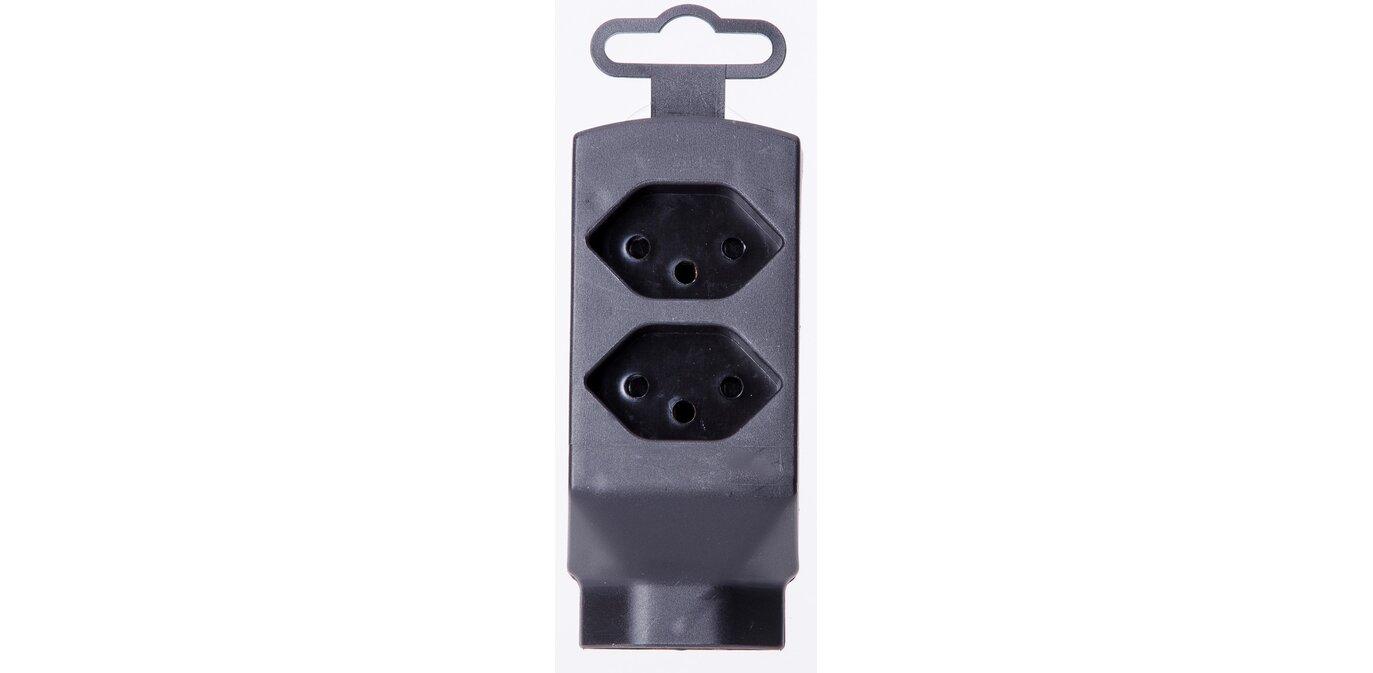 Mehrfachstecker 3xT13 Schwarz (Stecker, Doppelstecker)