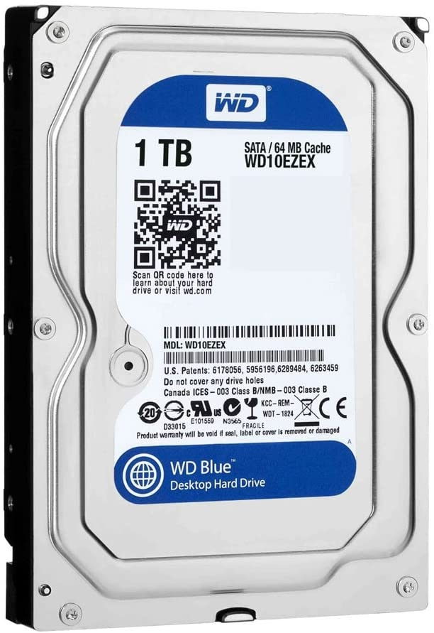 "Festplatte 1.0TB 3.5"" SATA WD Blue WD10EZEX Occasion"