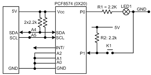 I2C PCF8574  8-Bit IO Board